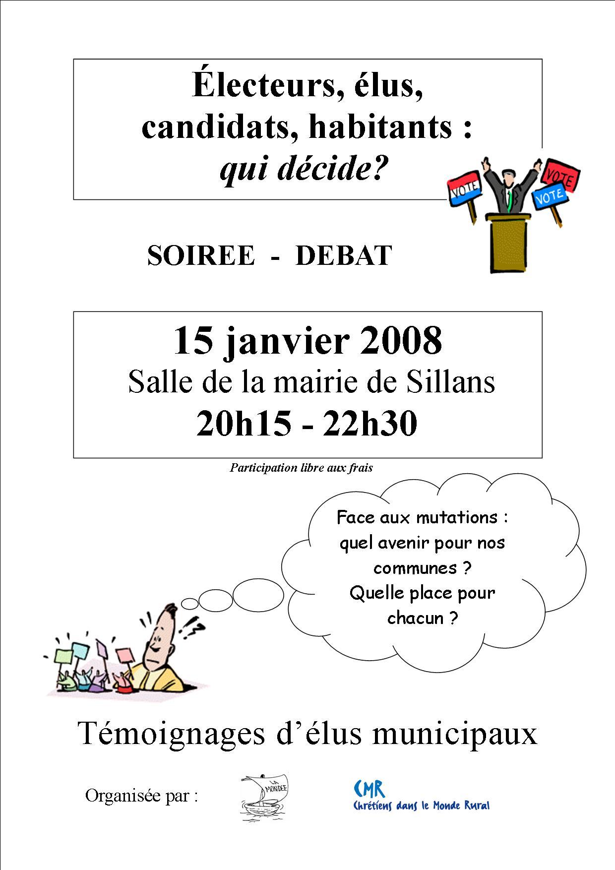 """Soirée-débat """"Elections municipales : qui décide ?"""""""