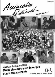 Animation Fédérale n°101 – Octobre 2008