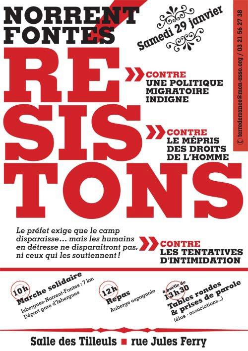 Migrants – Appel à manifester – Samedi 29 janvier à Norrent-Fontes (62)