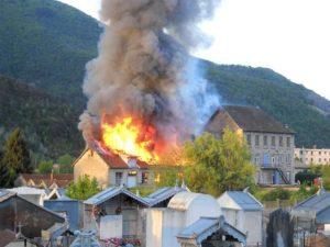 Incendie à la Viennoiserie Alpine