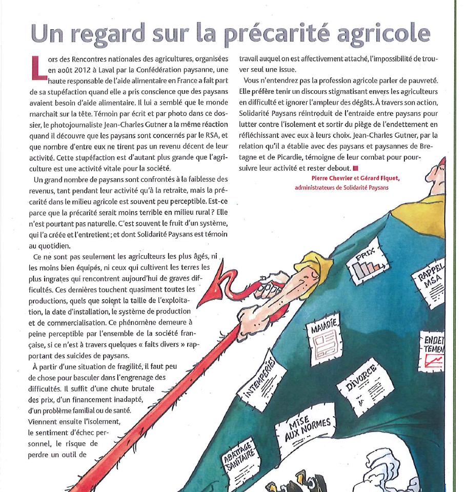 Un regard sur la précarité agricole