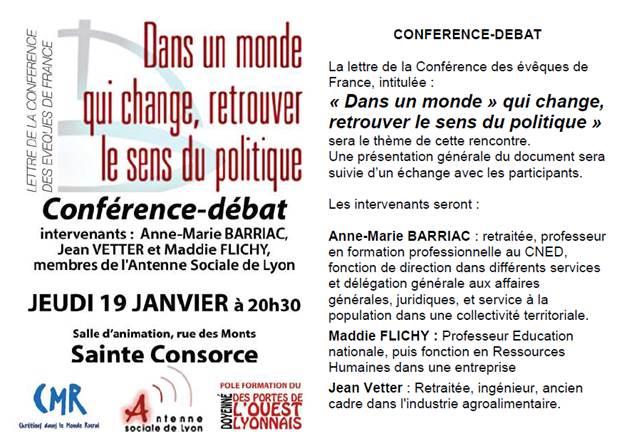 """Conférence-débat""""Le sens du politique"""""""