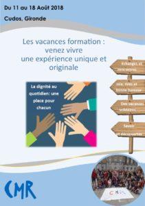 Les Vacances Formation 2018 : venez découvrir la Gironde du 11 au 18 août!!