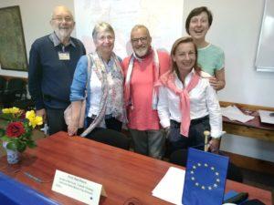 La délégation CMR à Cluj (Roumanie) pour la rencontre Prorure qui regroupe les associations de chrétiens dans le monde rural de 11 pays d'Europe.