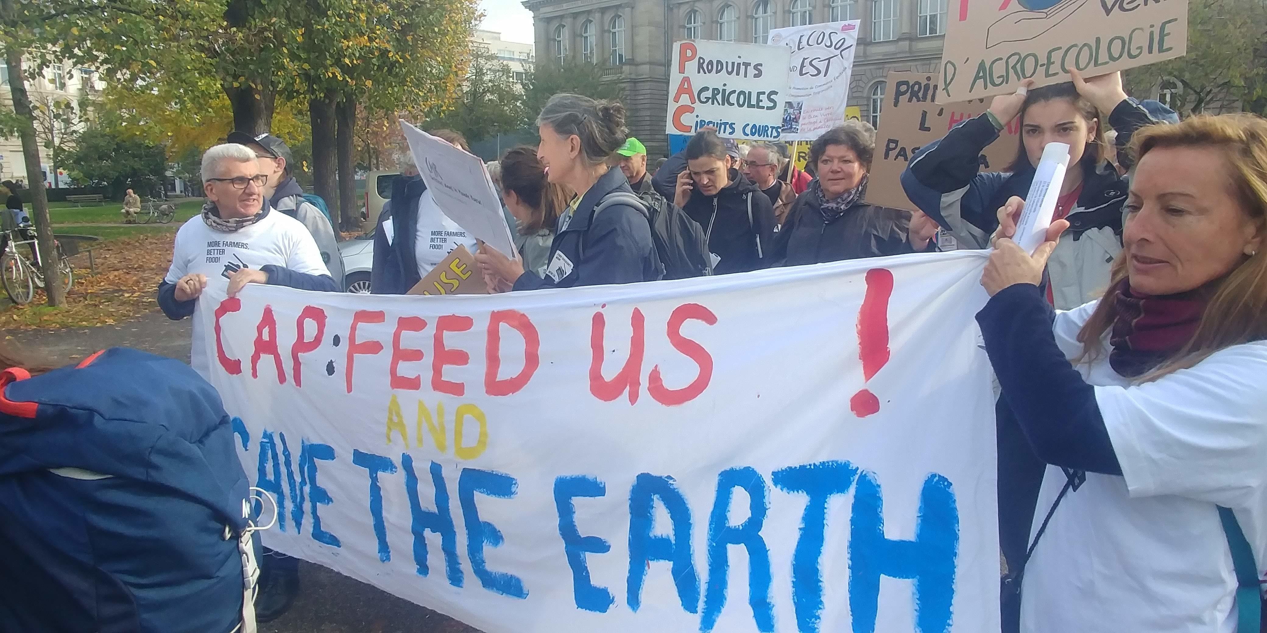 Agroparade devant le parlement européen